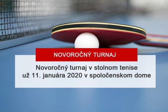 Novoročný turnaj v stolnom tenise