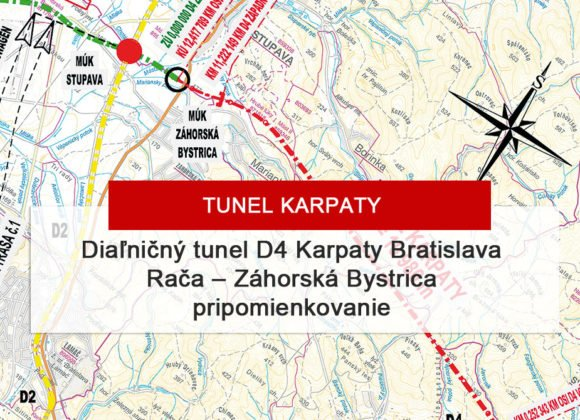 Tunel Karpaty Bratislava Rača – Záhorská Bystrica – možnosť pripomienkovať proces EIA do 13.02.2020