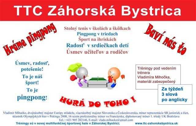 Letný tréningový kemp – TTC Záhorská Bystrica