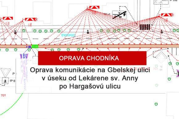 Oprava komunikácie na Gbelskej ulici