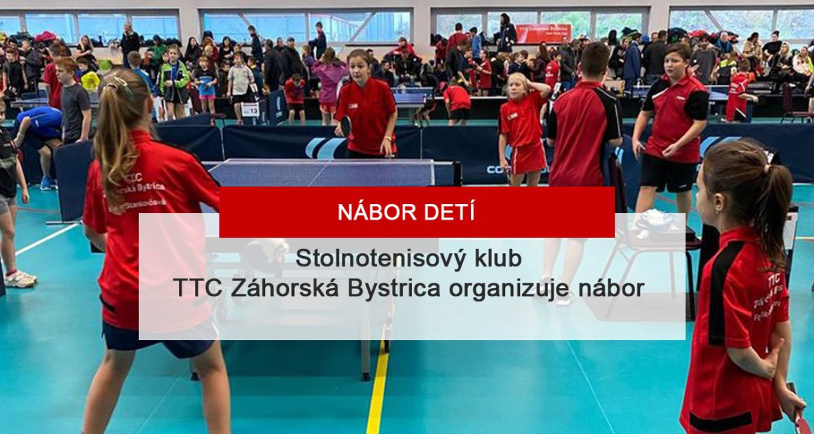 Nábor detí TTC Záhorská Bystrica
