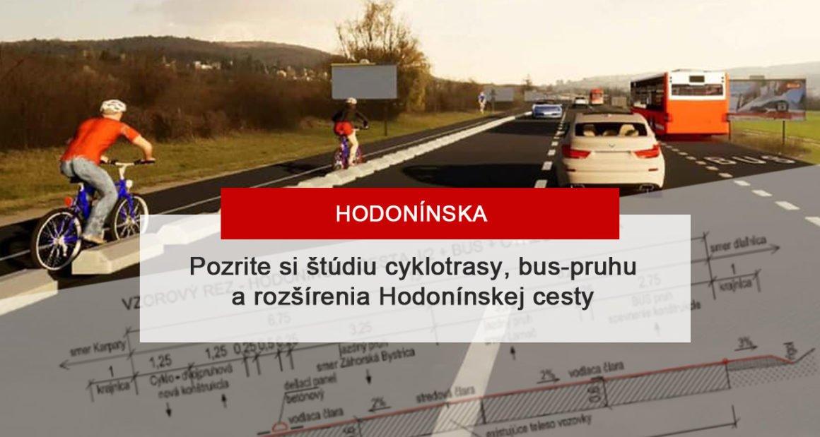 Cyklotrasa a rozšírenie Hodonínskej cesty Záhorská Bystrica Lamač – štúdia uskutočniteľnosti