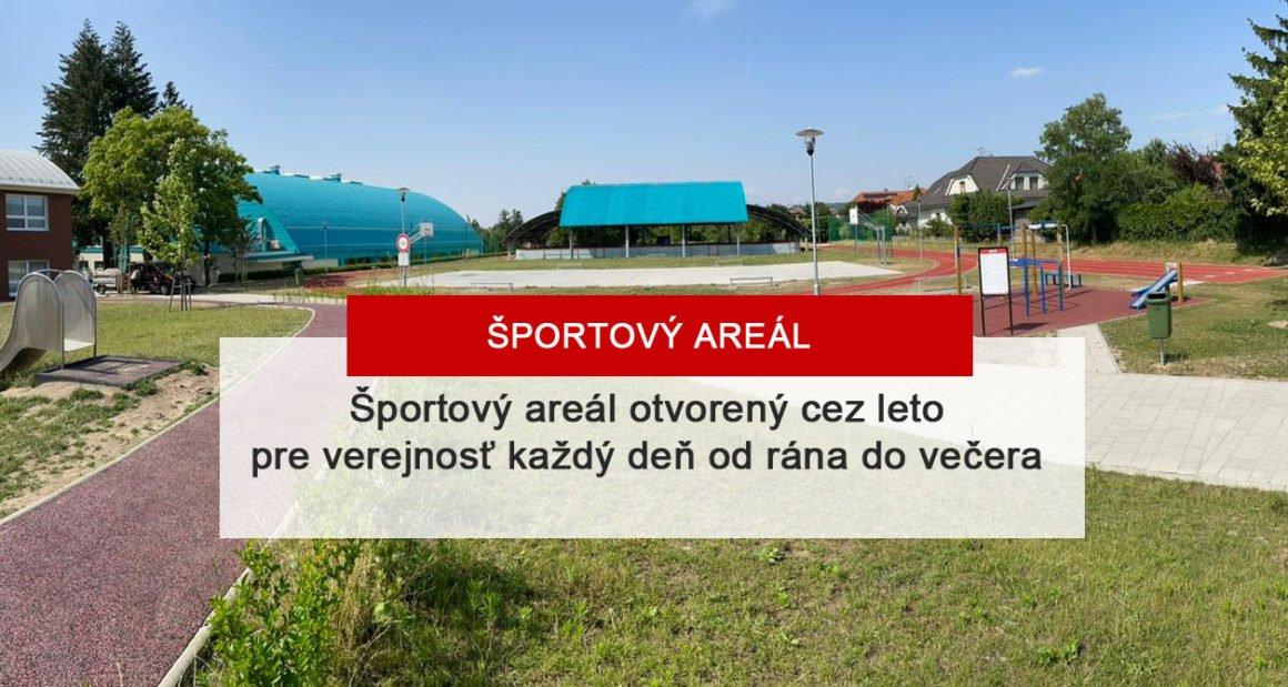Športový areál je otvorený aj v lete